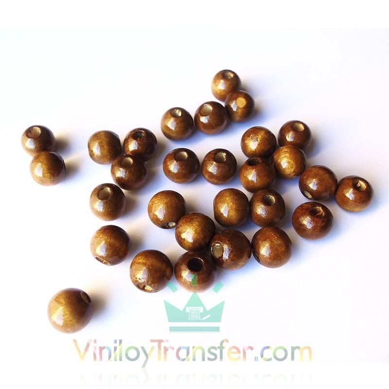 Cierres de bola de madera marrones for Cierres de madera