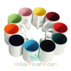 TAZA BLANCA CON INTERIOR DE COLOR