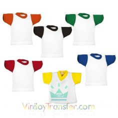 MINI CAMISETAS DE COLORES