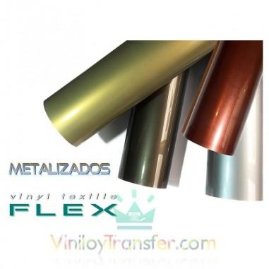 VINILO TEXTIL FLEX METALIZADO