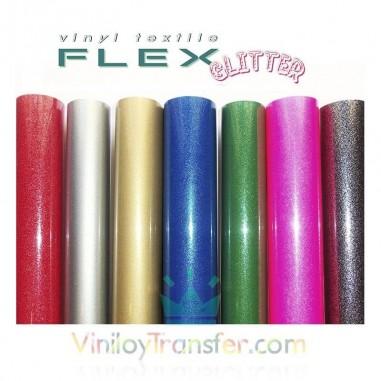 VINILO TEXTIL FLEX GLITTER