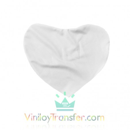 Funda para Cojín Corazón Blanco y Rojo