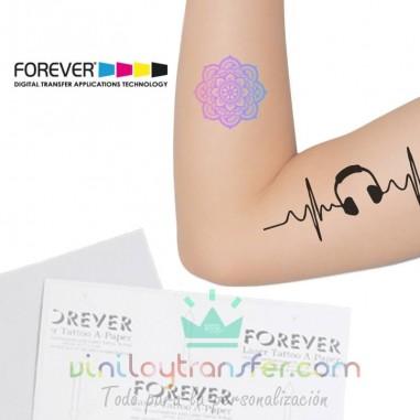 Papel para tatuajes y calcomanías imprimible láser forever
