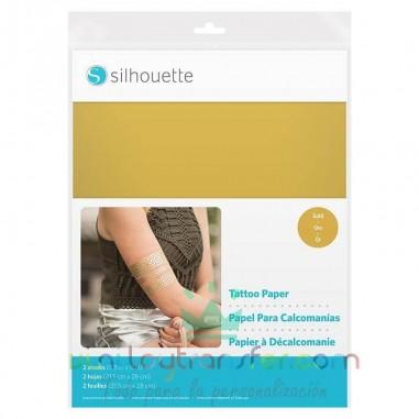 Papel para tatuajes y calcomanías color oro