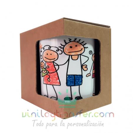 caja cartón regalo taza packaging