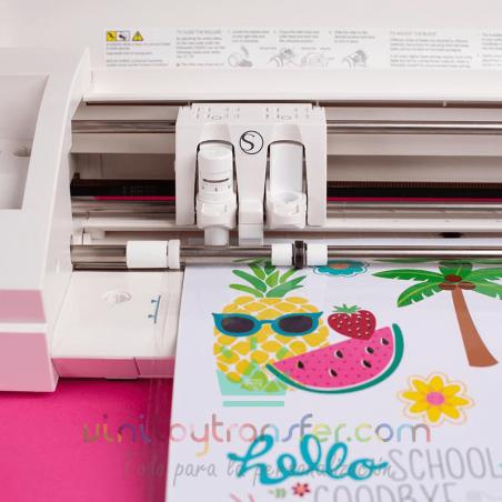 vinilo reposicionable impresora tinta silhouette