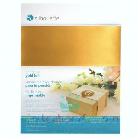 papel dorado adhesivo imprimible