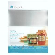 papel plateado adhesivo imprimible