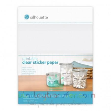 papel transparente adhesivo imprimible
