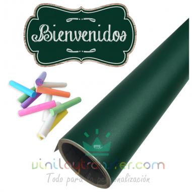 Vinilo adhesivo pizarra verde
