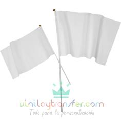 banderin blanco personalizable