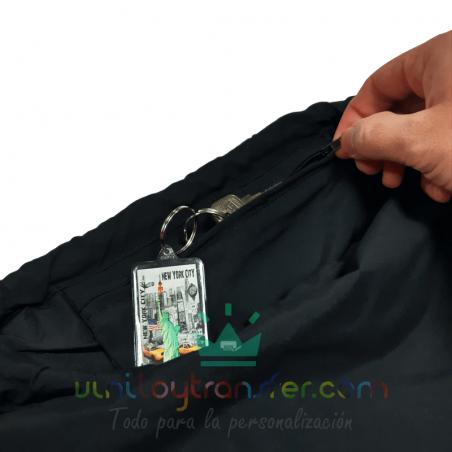 mochila de cuerdas con bolsillo