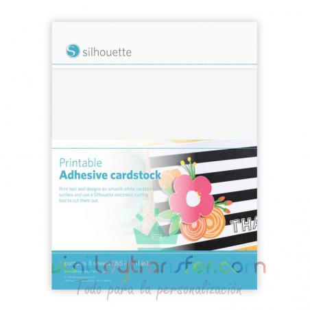 Cartulina adhesiva imprimible Silhouette