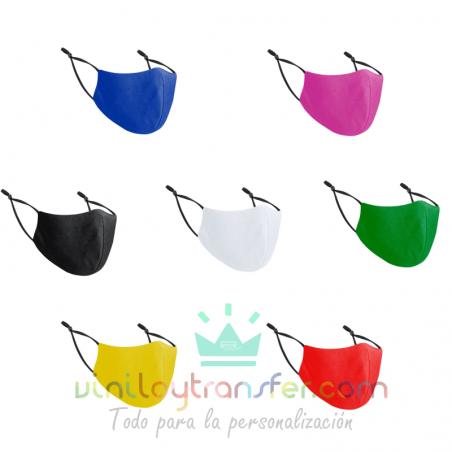 Mascarillas higiénicas 3D de colores