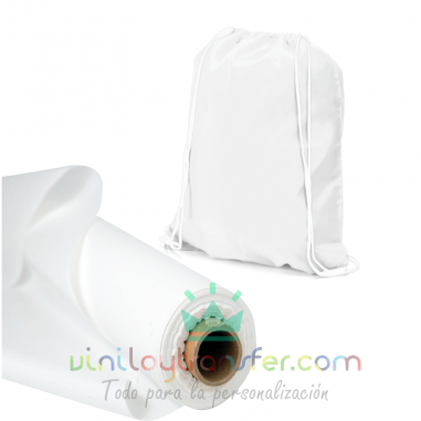 Tela sublimable tipo mochila de saco de poliéster