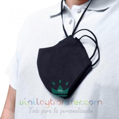 Mascarilla 3D con cinta para el cuello