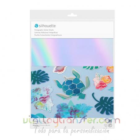 Papel holográfico iridiscente imprimible