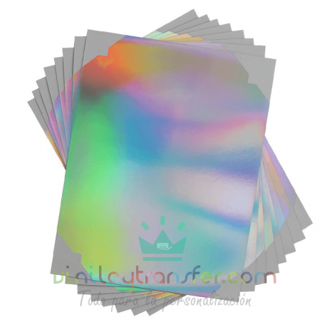 hojas vinilo adhesivo holografico iridiscente