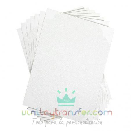 hojas adhesivas imprimibles glitter silhouette