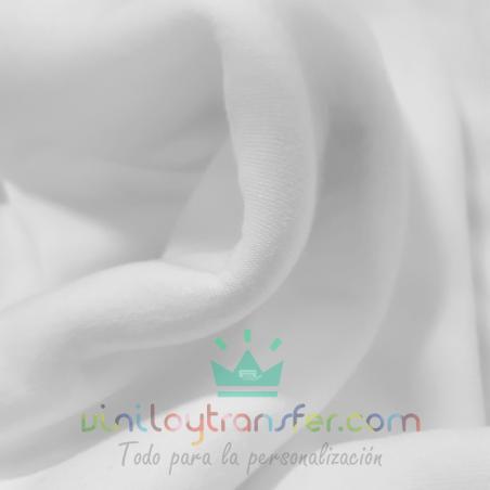 tela sudadera felpa perchada blanca interior sublimar