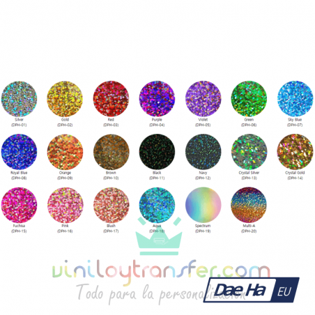 vinilo textil holografico carta colores