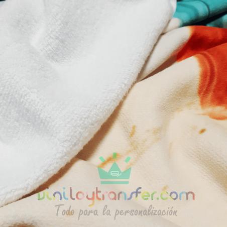 tejido toallacon rizo a dos lados para sublimación