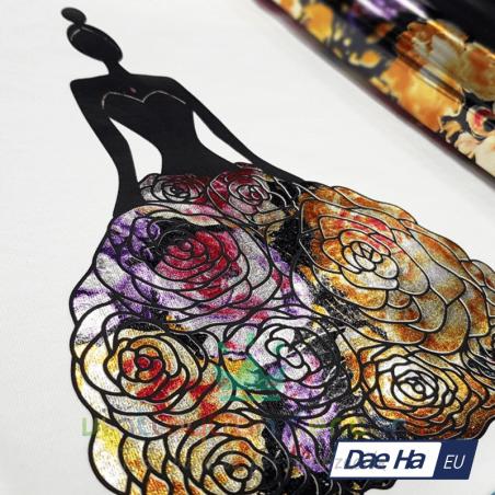 vinilo textil premium estampado flores dae ha