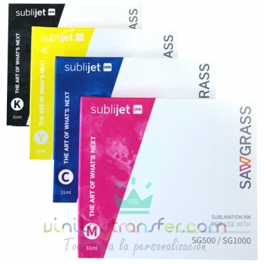 Cartuchos tinta Sublijet UHD para Sawgrass SG500 y SG1000 sublimación