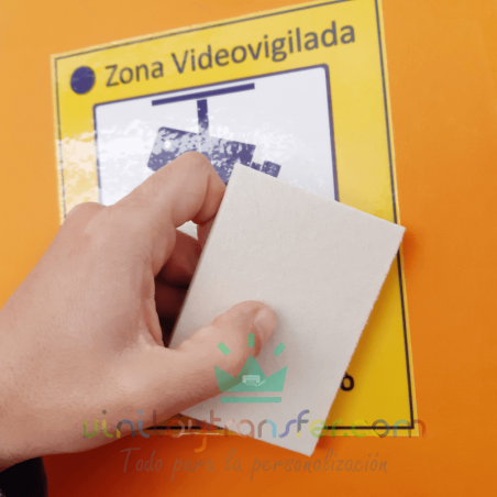 Espátula suave para rotulos impresos