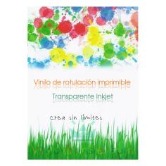 Vinilo imprimible adhesivo transparente brillo impresora inkjet
