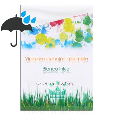Vinilo imprimible adhesivo blanco...