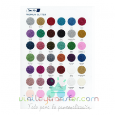 Carta de colores para Vinilo textil Daeha Premium Glitter Purpurina