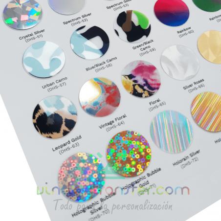 carta colores daeha vinilo textil stretch metallic