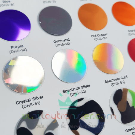 muestrario color vinilo textil premium metalizado brillo