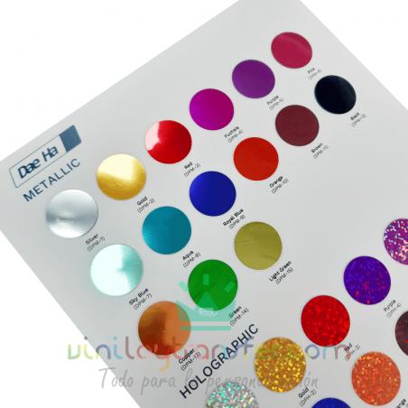 daeha colores vinilo textil espejo y holografico