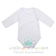 Body bebé sublimación tacto algodón de manga larga