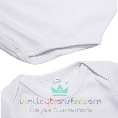 body bebe infantil sublimable tacto algodon blanco