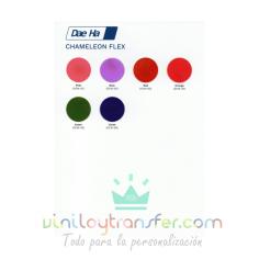Carta de colores para Vinilo textil Daeha Camaleón