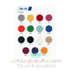 Carta de colores para Vinilo textil Daeha Premium Flock