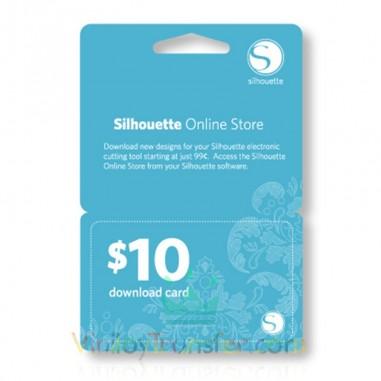 TARJETA SILHOUETTE DE 10$